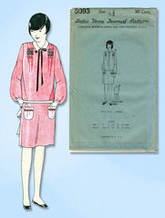 1920s VTG Ladies Home Journal Sewing Pattern 5093 Uncut Girls Flapper Dress Sz14