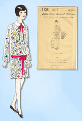 1920s VTG Ladies Home Journal Sewing Pattern 5138 Uncut Girls Flapper Dress Sz 6
