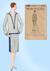 1920s VTG Ladies Home Journal Sewing Pattern 5146 FF Plus Size Flapper Dress 44B