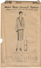 1920s VTG Ladies Home Journal Sewing Pattern 5146 FF Misses Flapper Dress Sz 36B