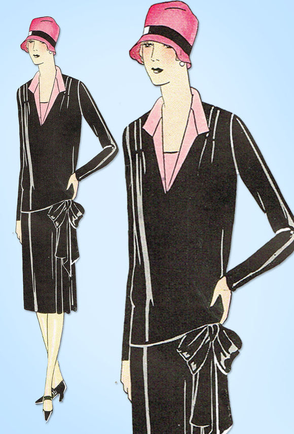1920s VTG Ladies Home Journal Sewing Pattern 5149 Uncut Flapper Street Dress 38B - Vintage4me2