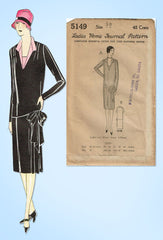 1920s VTG Ladies Home Journal Sewing Pattern 5149 Uncut Flapper Street Dress 38B