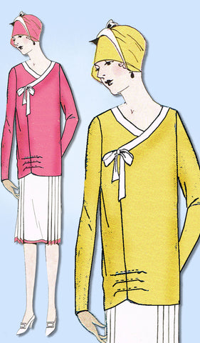 1920s Ladies Home Journal Sewing Pattern 5404 FF Multi Size Flapper Blouse 34-38