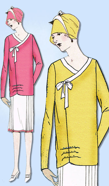 1920s Ladies Home Journal Sewing Pattern 5404 FF Plus Size Flapper Blouse Sz 40B
