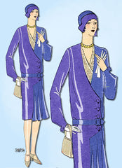 1920s VTG Ladies Home Journal Sewing Pattern 5879 FF Misses Flapper Dress Sz 36B