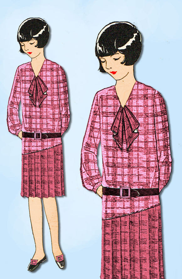 1920s Ladies Home Journal Sewing Pattern 6086 FF Toddler Girls Flapper Dress Sz6
