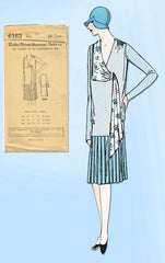 1920s VTG Ladies Home Journal Sewing Pattern 6163 FF Misses Flapper Dress Sz 34B