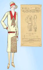 1920s VTG Ladies Home Journal Sewing Pattern 6168 FF Plus Size Flapper Dress 40B