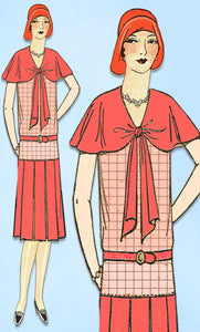 1920s VTG Ladies Home Journal Sewing Pattern 6219 FF Misses Flapper Dress Sz 36B - Vintage4me2