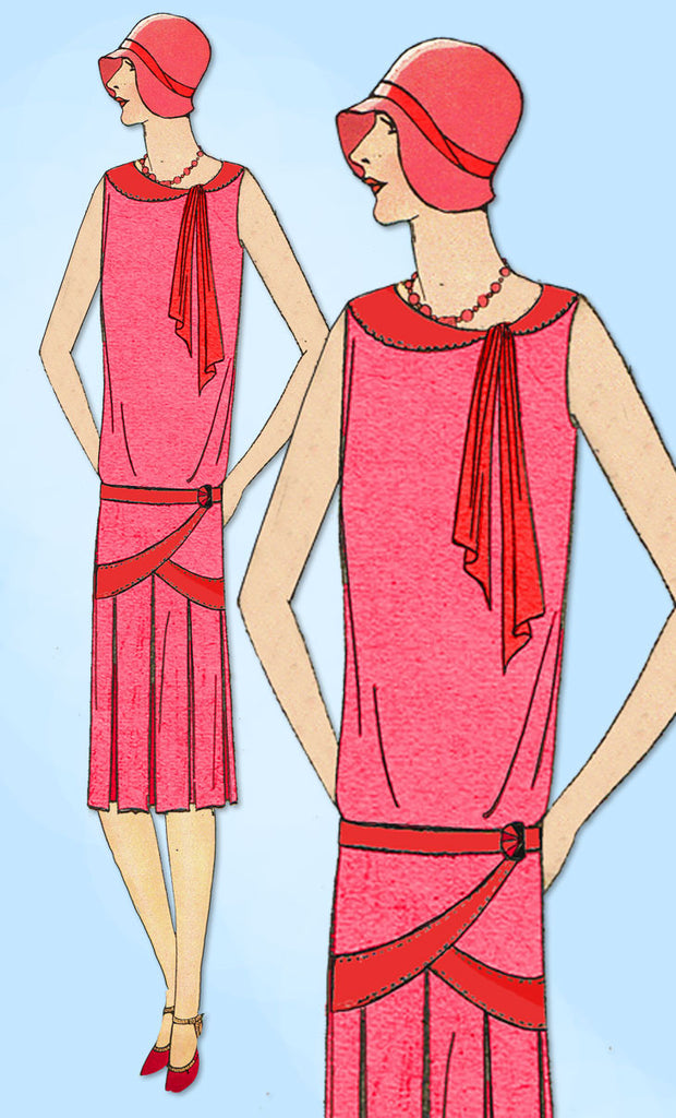 1920s VTG Ladies Home Journal Sewing Pattern 6247 FF Flapper Cocktail Dress 34 B