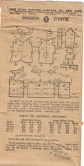 1920s VTG Ladies Home Journal Sewing Pattern 6247 FF Misses Flapper Dress Sz 36B