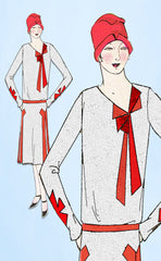 1920s VTG Ladies Home Journal Sewing Pattern 6251 FF Flapper Cocktail Dress 36B