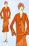1920s VTG Ladies Home Journal Pattern 6255 Uncut Flapper Cocktail Dress Sz 38 B - Vintage4me2
