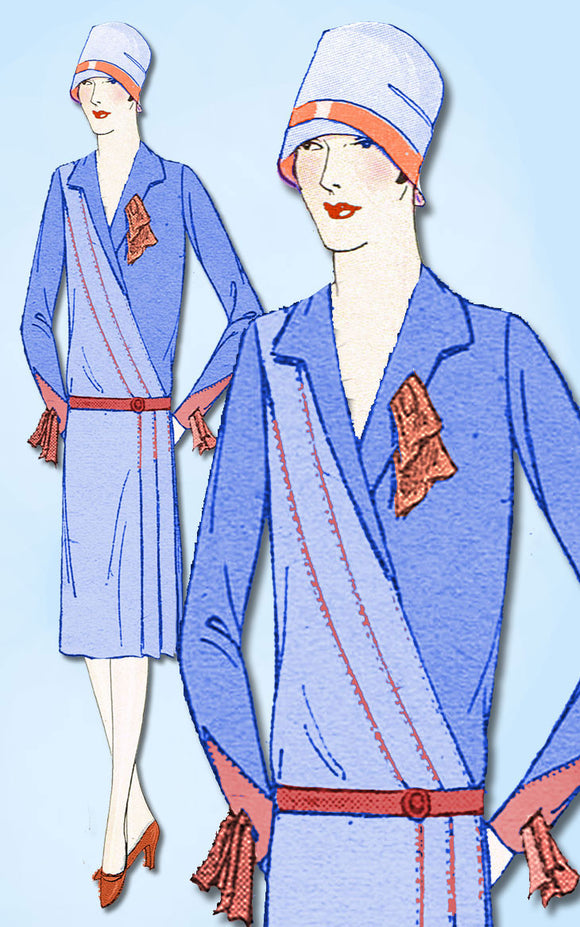 1920s VTG Ladies Home Journal Sewing Pattern 6333 Uncut Flapper Dress Size 36 B - Vintage4me2
