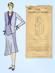 1920s Vintage Ladies Home Journal Pattern 6384 Uncut Misses Flapper Dress Sz 38B