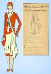 1920s Vintage Ladies Home Journal Pattern 6389 Uncut Misses Flapper Dress Sz 40B