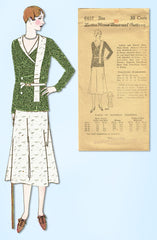 1930s Ladies Home Journal Sewing Pattern 6437 Uncut Misses 2 PC Dress Size 38 B