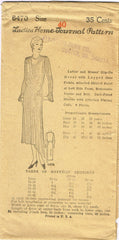 1930s Ladies Home Journal Sewing Pattern 6470 Uncut Plus Size Afternoon Dress 40