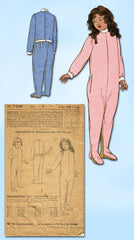 1920s Vintage Ladies Home Journal Sewing Pattern 7308 Toddler Pajamas Size 6 24B - Vintage4me2
