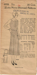 1930s Ladies Home Journal Sewing Pattern 8026 Uncut Misses Jumper Dress Sz 34 B