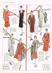1920s VTG Ladies Home Journal Sewing Pattern 5992 FF Misses Flapper Dress Sz 36B