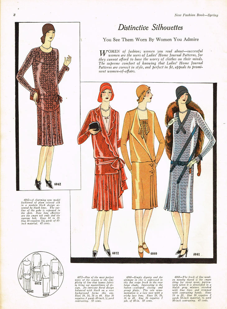 1920s Vtg Ladies Home Journal Sewing Pattern 6060 Ff Plus Size
