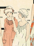 Ladies Home Journal 3712: 1920s Uncut Misses Boudoir Cap Vintage Sewing Pattern