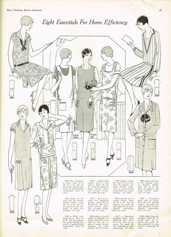 1920s VTG Ladies Home Journal Sewing Pattern 5081 Uncut Flapper Day