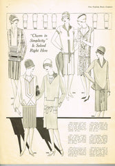 1920s VTG Ladies Home Journal Sewing Pattern 5380 FF Plus Size Flapper Dress 40B