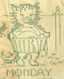1940s Laura Wheeler Embroidery Transfer 1386 Uncut X-Stitch Kitten Tea Towels - Vintage4me2
