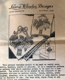 1940s Vintage Laura Wheeler Embroidery Transfer 1438 Uncut Lilac Basket Motifs