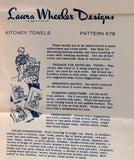 1940s Vintage Laura Wheeler Embroidery Transfer 678 Uncut Granny DOW Tea Towel