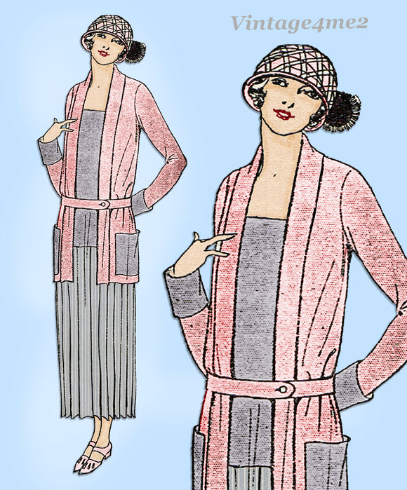 Ladies Home Journal 3000: 1920s Misses Plus Size Coat Sz 44 B VTG Sewing Pattern