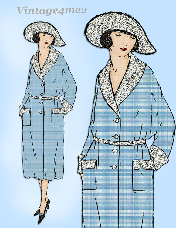 Ladies Home Journal 3048: 1920s Uncut Misses Coat Sz 34 B Vintage Sewing Pattern