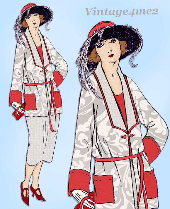 Ladies Home Journal 3064: 1920s Uncut Misses Coat Sz 34 B Vintage Sewing Pattern
