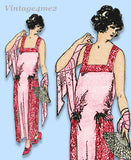 Ladies Home Journal 3334: 1920s Uncut Evening Gown 38 B Vintage Sewing Pattern