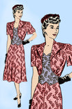 Marian Martin 9993: 1940s Uncut Misses Street Dress 38B Vintage Sewing Pattern
