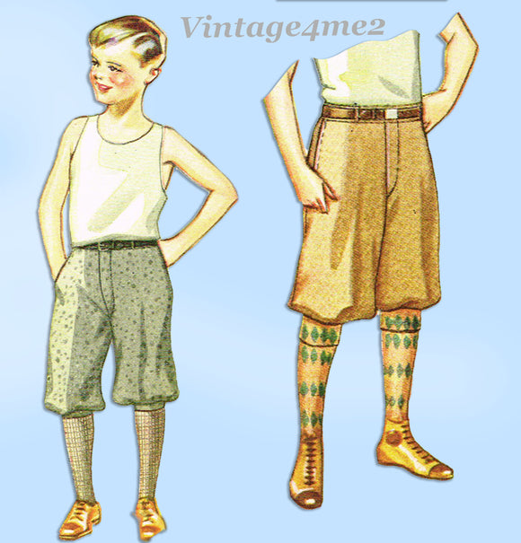 McCall 2217: 1920s Rare Uncut Little Boys Knickers Size 8 Vintage Sewing Pattern