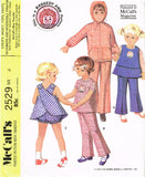 1960s Vintage McCalls Sewing Pattern 2529 Uncut Toddler Girls Play Clothes Size 4