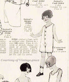 McCall 3496: 1920s Toddler Boys Union Suit Underwear Sz 4 Vintage Sewing Pattern