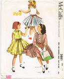 1950s Vintage Girl's Easy Dress 1956 McCalls VTG Sewing Pattern 3881 Size 12