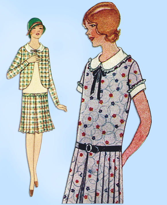 McCall 5749: 1920s Uncut Toddlers Girls Eton Dress Size 6 Vintage Sewing Pattern