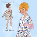 McCall 5879: 1920s Cute Little Girls Bloomer Dress Size 8 Vintage Sewing Pattern