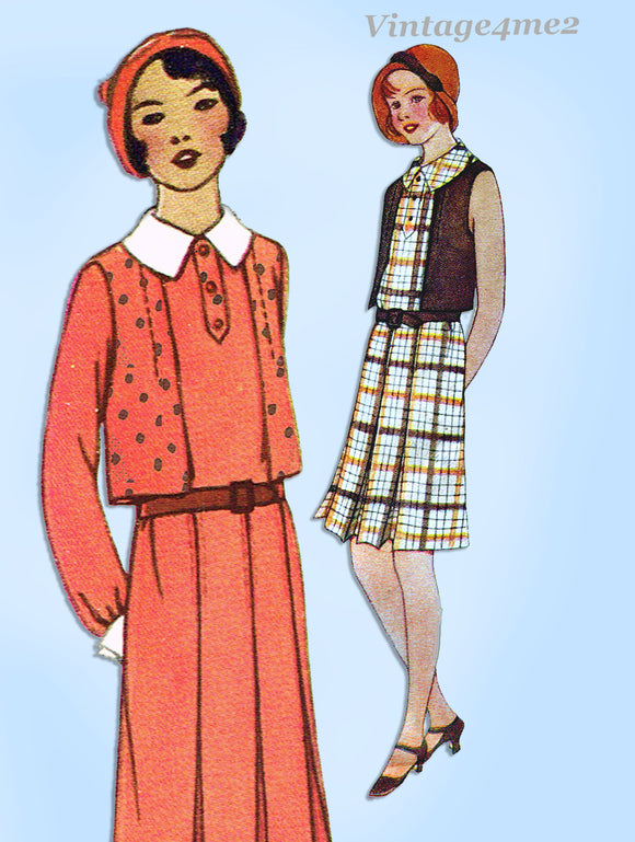 McCall 6402: 1920s Uncut Little Girls Eton Dress Size 10 Vintage Sewing Pattern