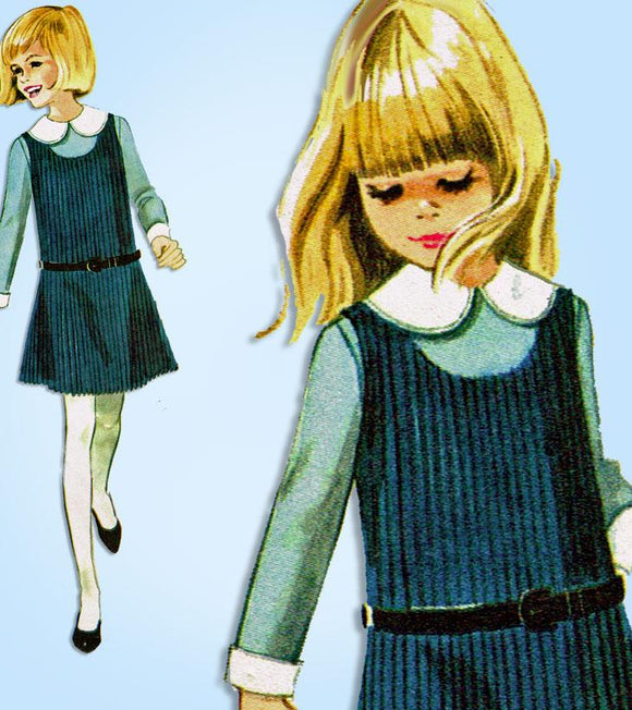 McCall 8381: 1960s Girls Helen Lee Jumper Dress Size 8 Vintage Sewing Pattern - Vintage4me2