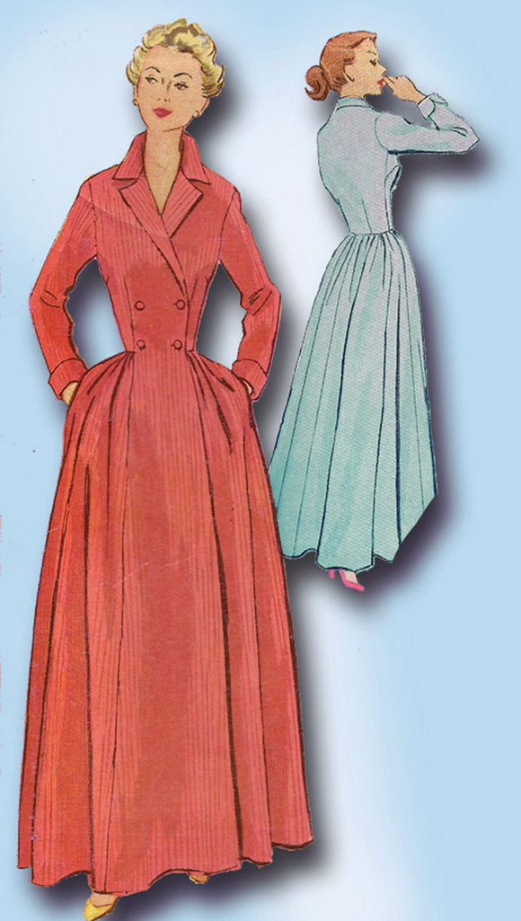 1950s Vintage McCall's Sewing Pattern 9082 Misses Housecoat or Dress Size 30 B - Vintage4me2