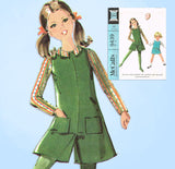 1960s Vintage McCall's Sewing Pattern 9439 Toddler Girls Jumper w Shorts Size 6 - Vintage4me2