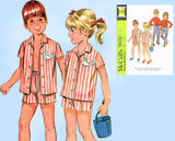 1960s Vintage McCalls Sewing Pattern 9691 Uncut Unisex Toddler Play Clothes Sz 6x