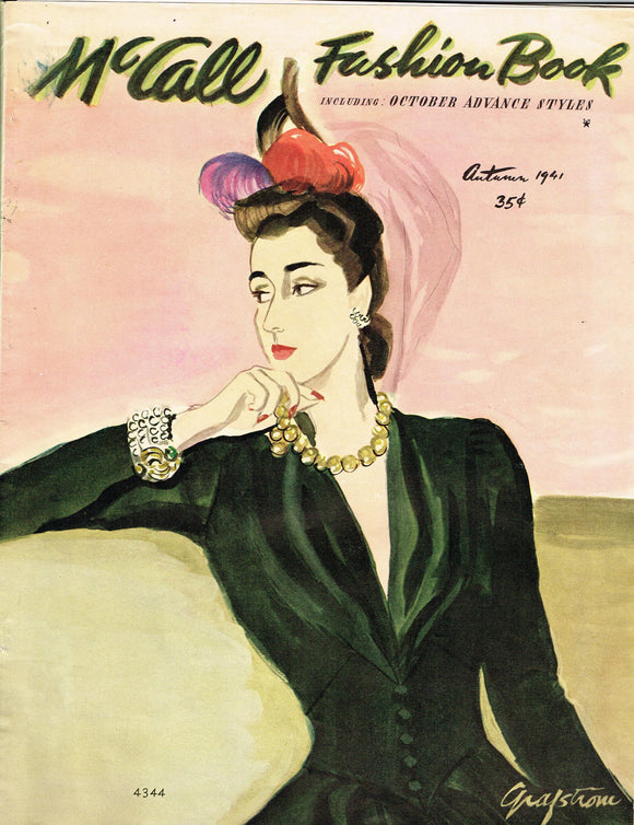 1940s Digital Download McCall Fall 1941 Fashion Book Magazine Pattern Book Catalog