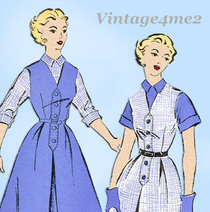 New York 1237: 1950s Uncut Misses Jumper & Blouse 37B Vintage Sewing Pattern